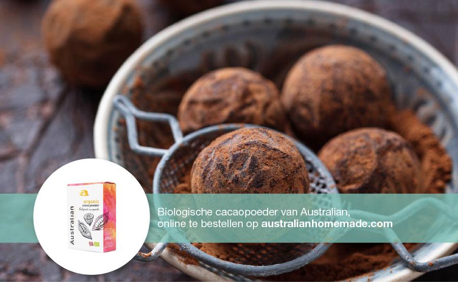 Recept Cacaobollen met dadels en noten | DGA | Groene Bedrijfscatering