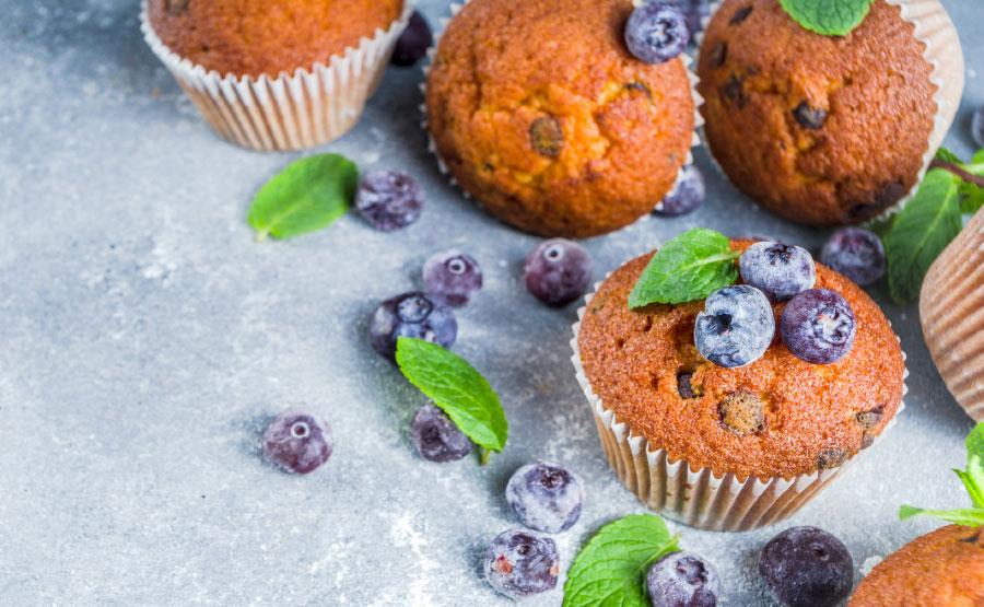 Recept Taart en toet DGA | Muffins met blauwe bessen