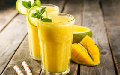 Smoothie mango, appel, citroen en munt