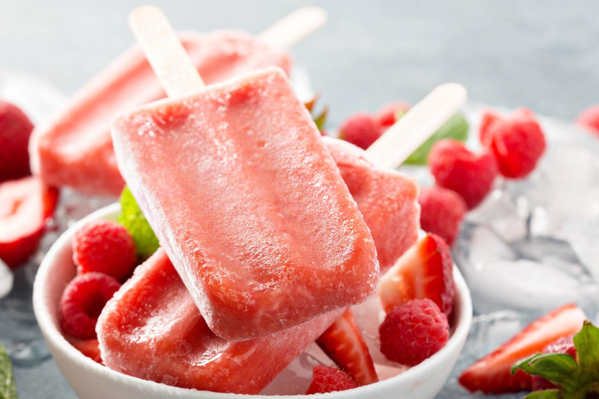 recept aardbeien frambozen ijsjses met munt | Bedrijfscatering | De Groene Artisanen
