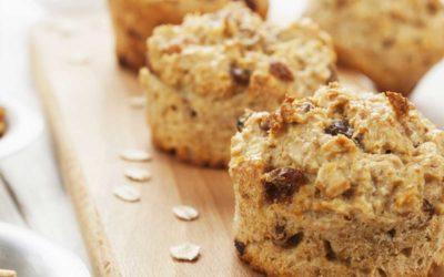 Havermout muffins met appel en rozijnen