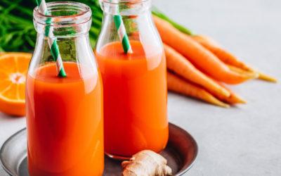 Smoothie sinaasappel, wortel en gember