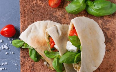 pita broodjes met geroosterde groenten