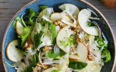 Salade van venkel met appel en walnoot